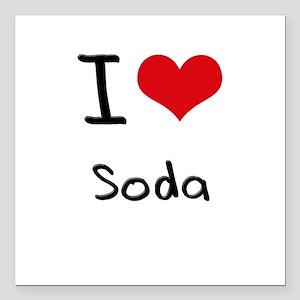 """I love Soda Square Car Magnet 3"""" x 3"""""""