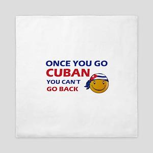 Cuban smiley designs Queen Duvet