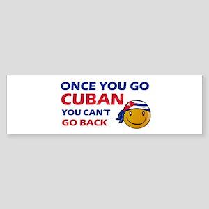 Cuban smiley designs Sticker (Bumper)