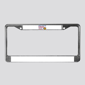Cuban smiley designs License Plate Frame