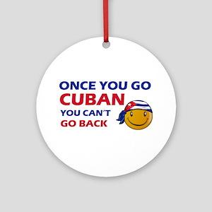Cuban smiley designs Ornament (Round)