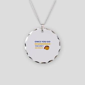 Ecuadorean smiley designs Necklace Circle Charm