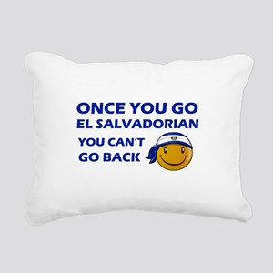 El Salvadorian smiley designs Rectangular Canvas P