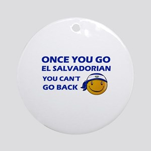 El Salvadorian smiley designs Ornament (Round)