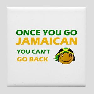 Jamaican smiley designs Tile Coaster