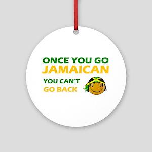 Jamaican smiley designs Ornament (Round)
