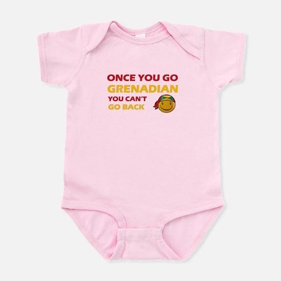 Grenadian smiley designs Infant Bodysuit