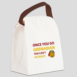 Grenadian smiley designs Canvas Lunch Bag