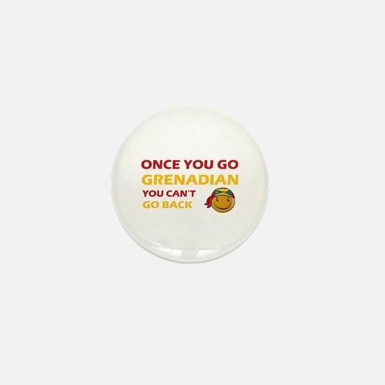 Grenadian smiley designs Mini Button