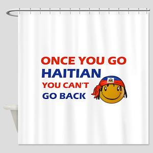 Haitian smiley designs Shower Curtain