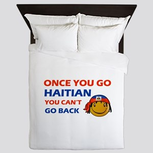 Haitian smiley designs Queen Duvet