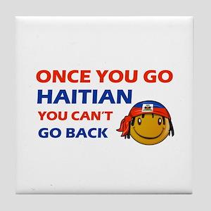 Haitian smiley designs Tile Coaster