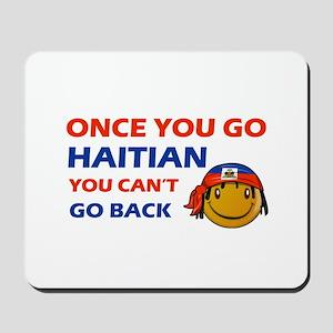 Haitian smiley designs Mousepad