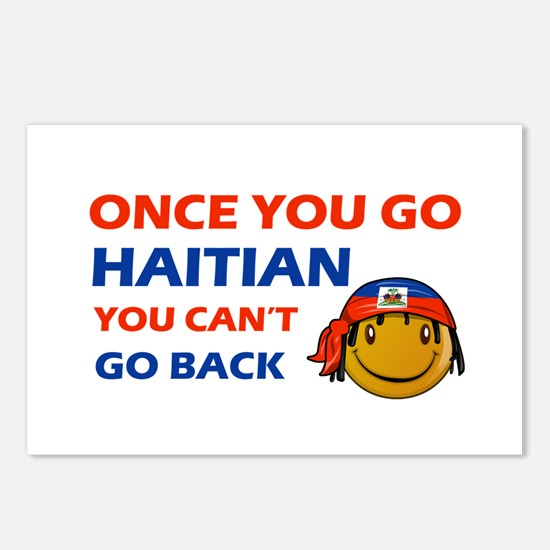 Haitian smiley designs Postcards (Package of 8)