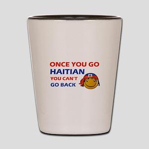 Haitian smiley designs Shot Glass