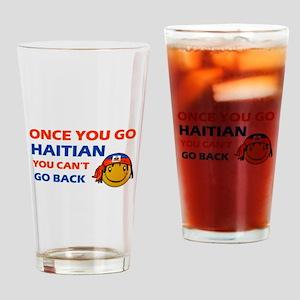 Haitian smiley designs Drinking Glass