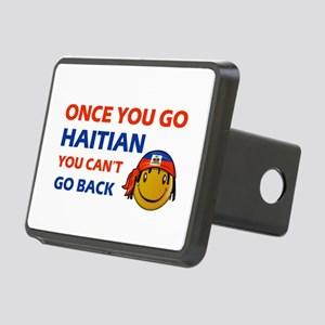 Haitian smiley designs Rectangular Hitch Cover