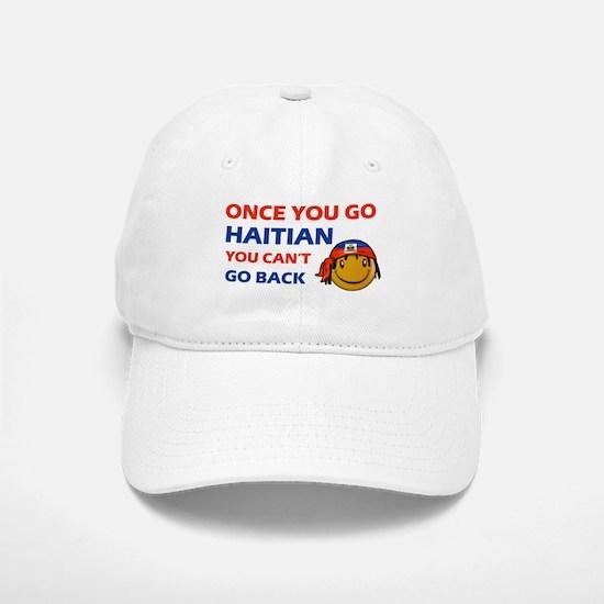 Haitian smiley designs Baseball Baseball Cap