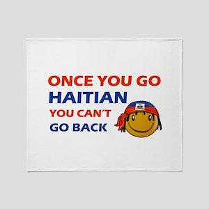 Haitian smiley designs Throw Blanket