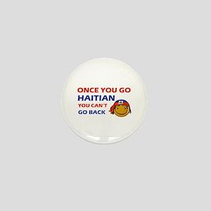 Haitian smiley designs Mini Button