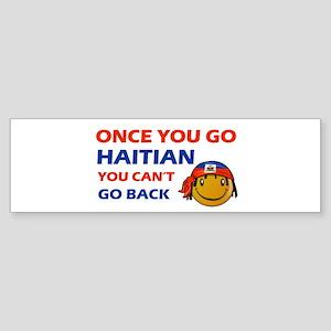 Haitian smiley designs Sticker (Bumper)