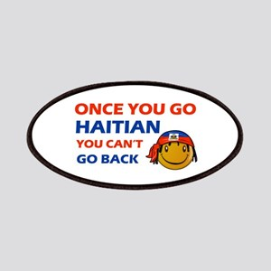 Haitian smiley designs Patches