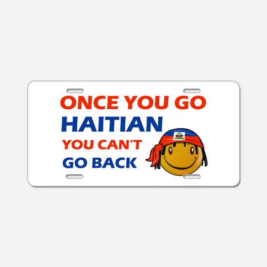 Haitian smiley designs Aluminum License Plate