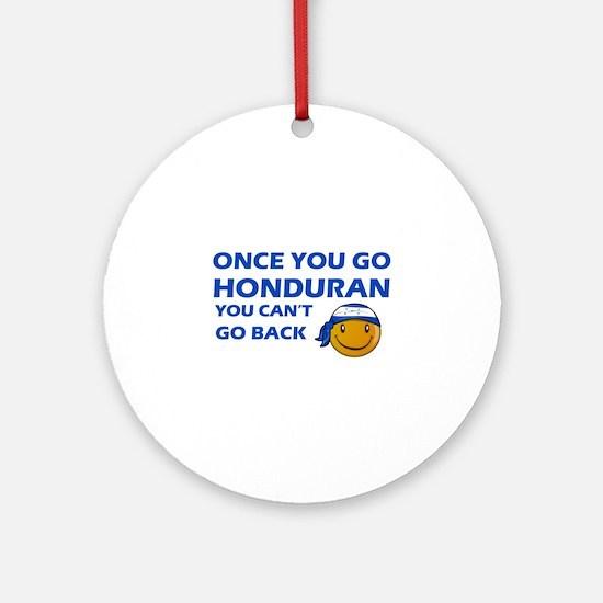 Honduran smiley designs Ornament (Round)