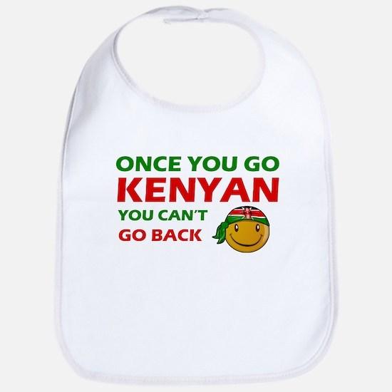 Kenyan smiley designs Bib