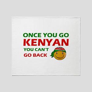 Kenyan smiley designs Throw Blanket