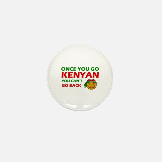 Kenyan smiley designs Mini Button