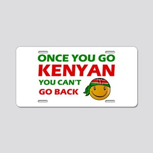Kenyan smiley designs Aluminum License Plate