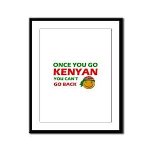 Kenyan smiley designs Framed Panel Print