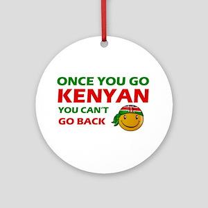 Kenyan smiley designs Ornament (Round)