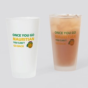 Mauritian smiley designs Drinking Glass