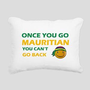 Mauritian smiley designs Rectangular Canvas Pillow