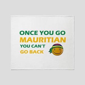 Mauritian smiley designs Throw Blanket