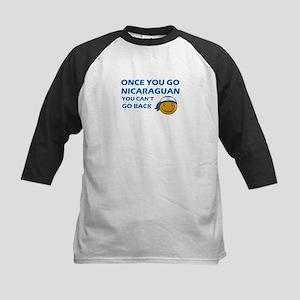 Nicaraguan smiley designs Kids Baseball Jersey