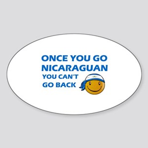 Nicaraguan smiley designs Sticker (Oval)