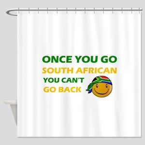 South African smiley designs Shower Curtain