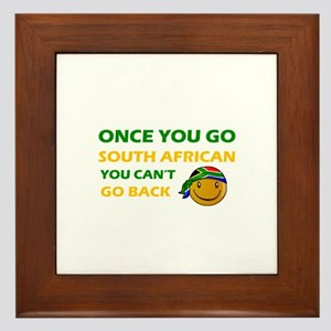 South African smiley designs Framed Tile