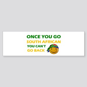 South African smiley designs Sticker (Bumper)