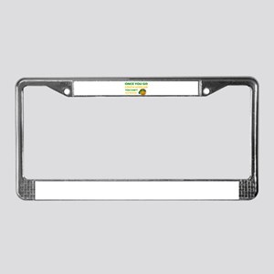 South African smiley designs License Plate Frame