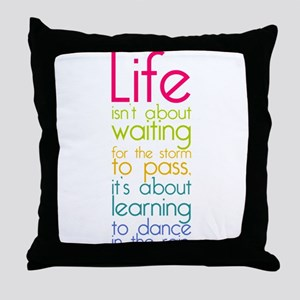 Dance in the Rain Throw Pillow