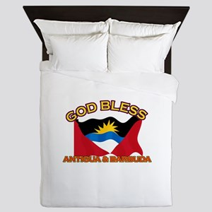 Patriotic Antigua & Barbuda designs Queen Duvet