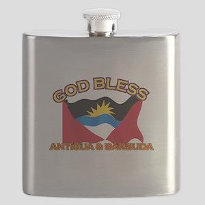 Patriotic Antigua & Barbuda designs Flask