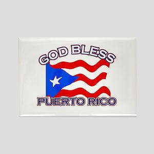 Patriotic Puerto Rico designs Rectangle Magnet