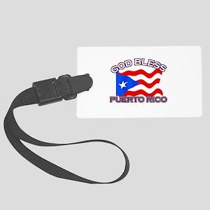 Patriotic Puerto Rico designs Large Luggage Tag