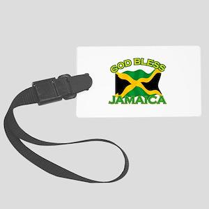 Patriotic Jamaica designs Large Luggage Tag