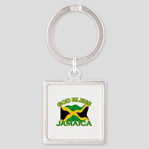 Patriotic Jamaica designs Square Keychain